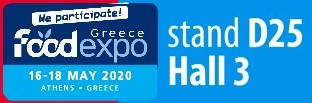 banner for the Food Expo in Athens Greece 10-12.03.2018